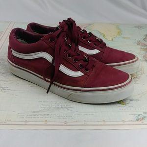 Vans Old Skool Burgundy Mid-Top Skate Shoes